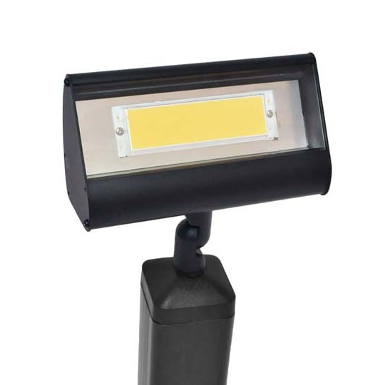 Commercial Outdoor Lighting For Signs: 12V/120V LED Classic Floodlight In Weathered Brown & Rust