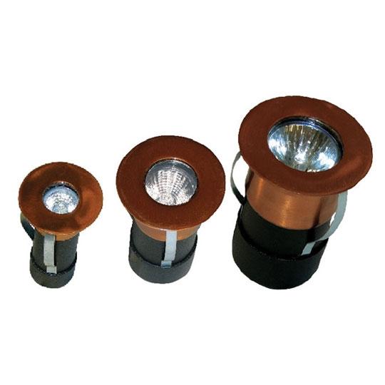 12v 2 3 Copper Recessed Deck Light W Black Acid For