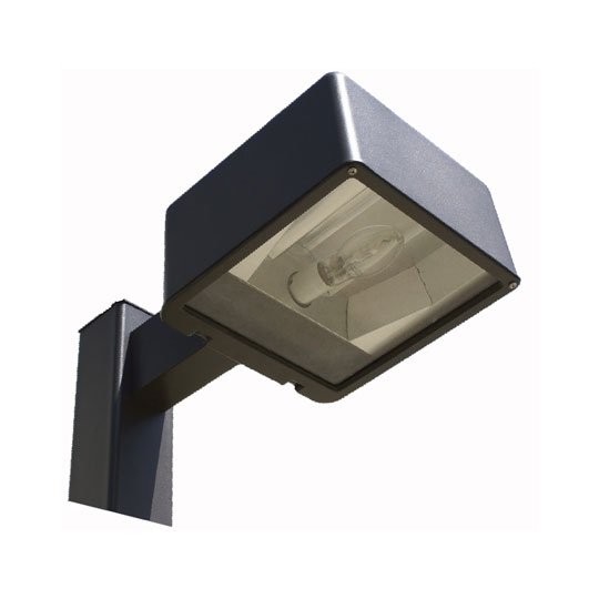 "Parking Lot Lighting Cost Per Square Foot: 120-277V 25' 5"" Square Straight Pole Single Fixture Light"