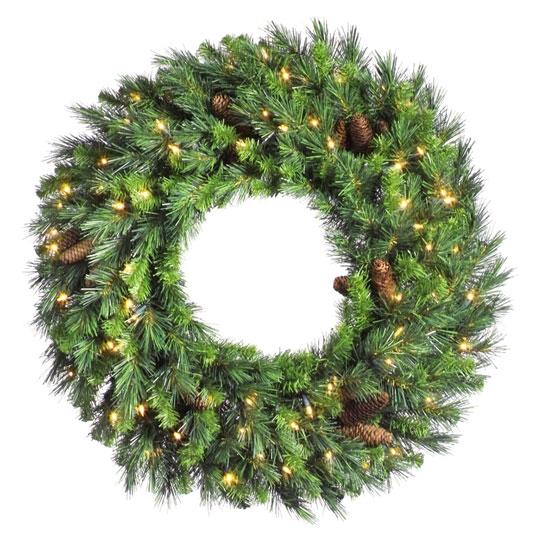 Cheyenne Pine Wreath (Pre-Lit)