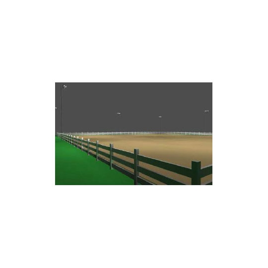 100 X 200 Oval Horse Arena Light Kit Steel Poles For