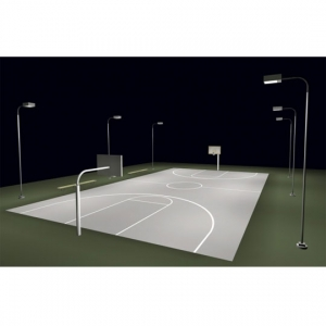LED Lighting For Outdoor Basketball Courts. Designed For Full Court Playing  Areas.
