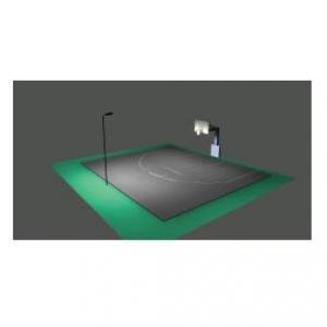 High Output Led Lighting For Residential Basketball Courts Includes Pole Mounting Arm And Fixture