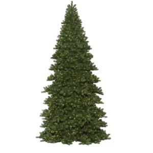 Oregon Fir Frame Christmas Tree, Pre-lit