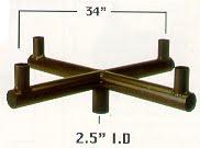 Round Straight Bull Horns