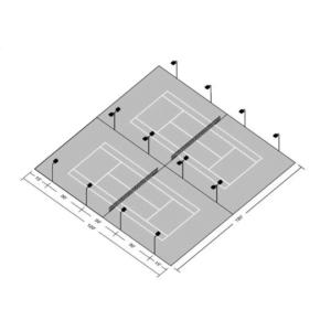 LED Double Tennis Court Tournament Kit