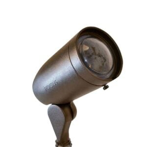 LED Cast Aluminum 120V Bullet Light Extension Cap, Convex Lens