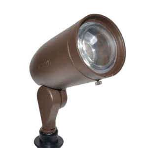 LED Cast Aluminum 12V Bullet Light Extension Cap, Convex Lens