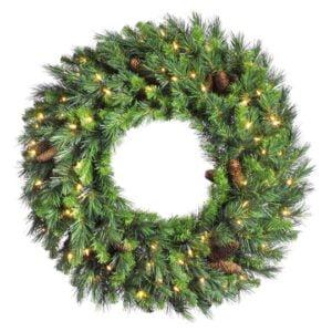 Cheyenne Pine Wreath, Pre-lit