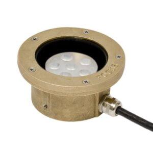 12V Cast Brass Underwater Light LED (7 Watt) No Bracket