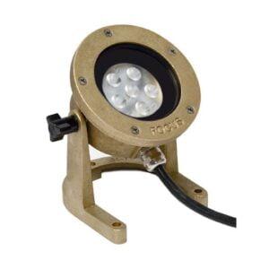 12V Cast Brass Underwater Light LED (11 Watt) With Aiming Bracket