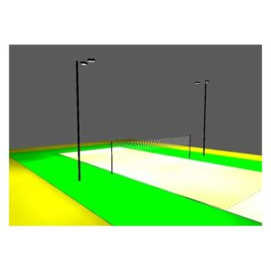 LED Alternate Volleyball Court Package