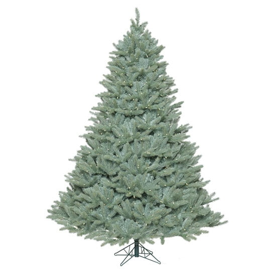 Jc Penney Christmas Trees: Commercial Pre-Lit Colorado Blue Christmas Tree With LED