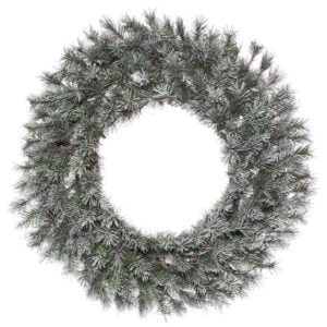 Frosted Lacey Wreath, Unlit