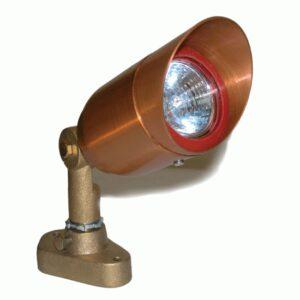 Low Voltage MR16 Copper Bullet Blue Lens