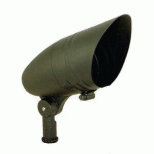 "R20 Landscape Bullet Light Down Shield Medium Stake (18""x1"") 50 Watt Mercury Vapor None"