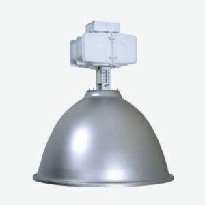 "22"" Spun Aluminum Metal Halide High Bay (480V) 400 Watts Metal Halide Flat Glass Lens"