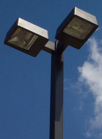Commercial parking lot pole lighting kits and packages