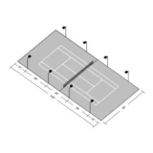 LED Single Tennis Court Tournament Kit