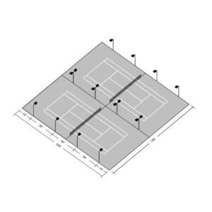 LED Double Tennis Court Tournament Kit