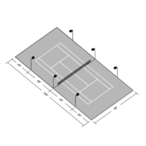 LED Tennis Court Lighting Kit Designed for Residential Use