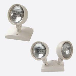 Round Remote Head Emergency Lights