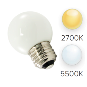 G50 LED Bulbs (25-Pack) Frosted, E26 Base