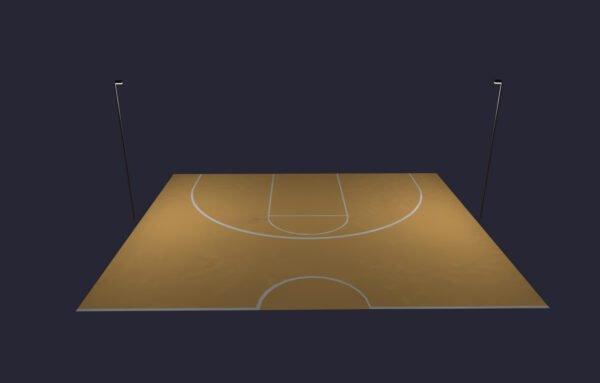 LED Basketball Half Court Lighting System: Direct Burial