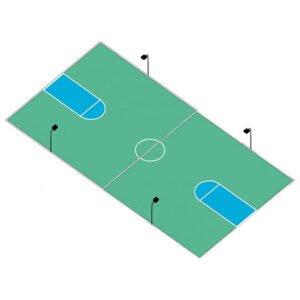 LED Basketball Full Court Lighting System: Anchor Base